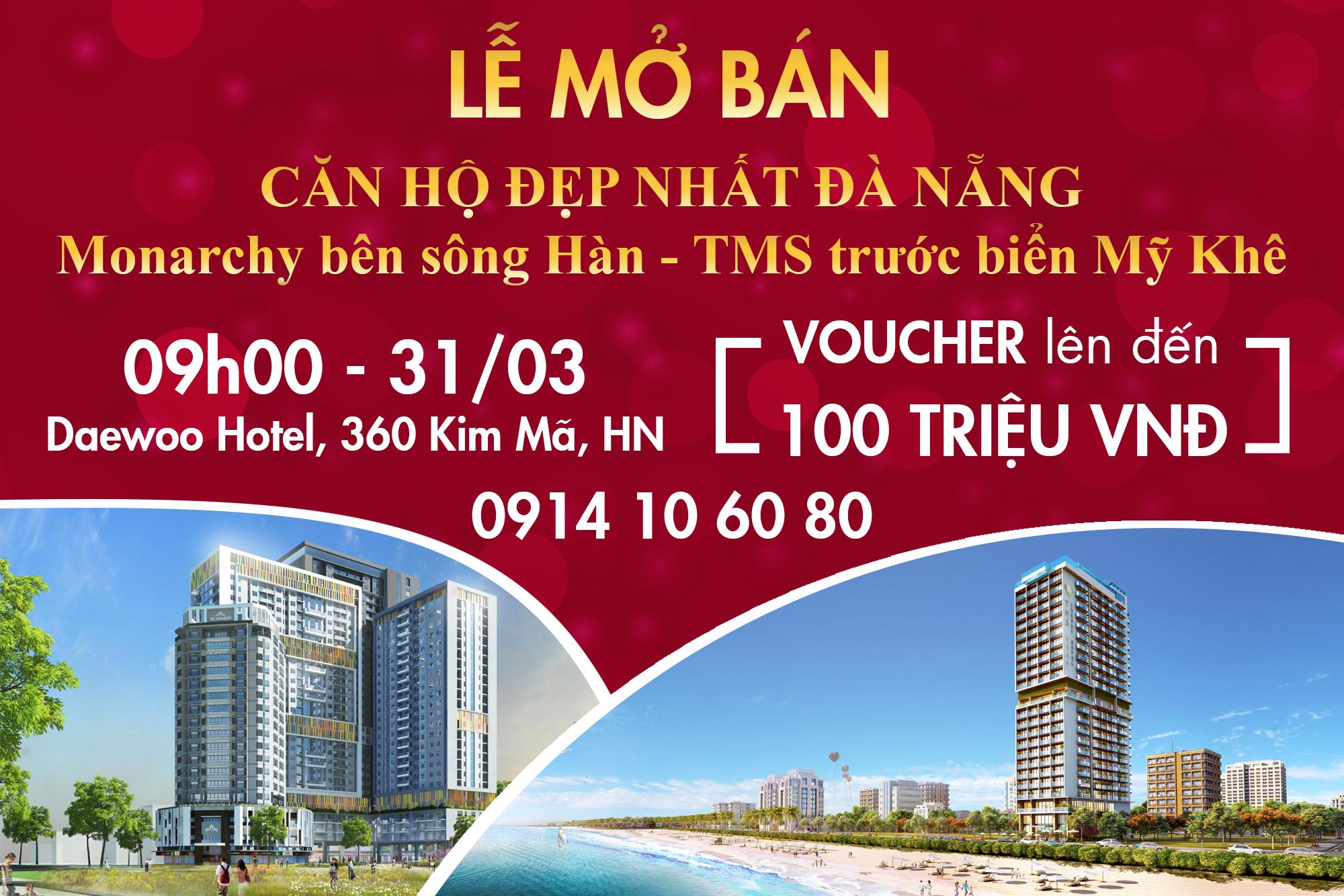 Cơ hội cho nhiều nhà đầu tư Hà Thành khi căn hộ nghỉ dưỡng Monarchy được mở bán vào ngày 31-03 tới