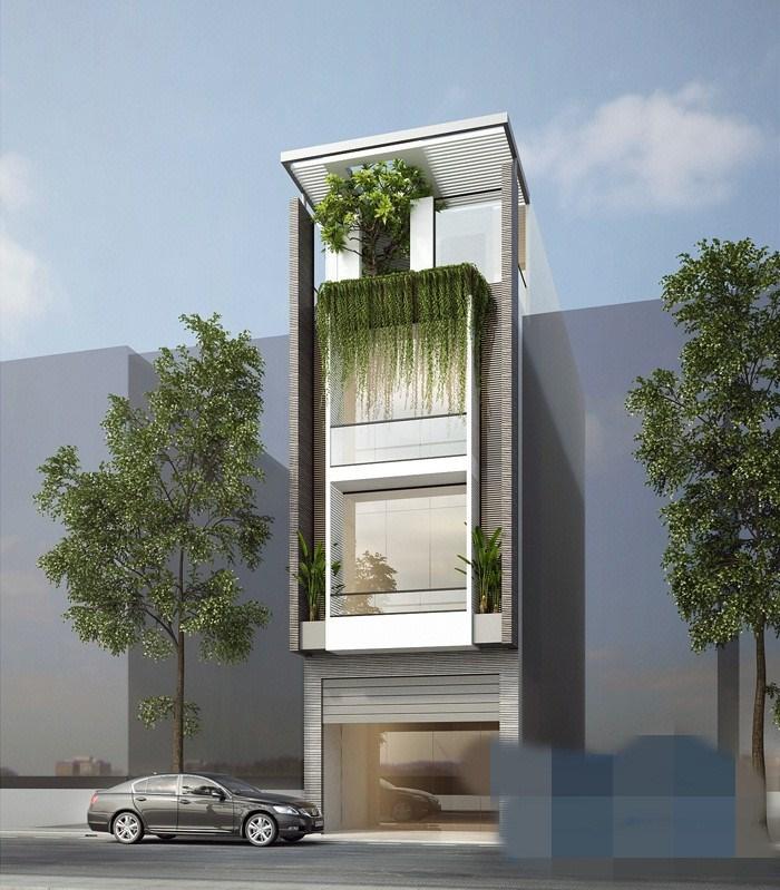 Những mẫu nhà phố 4 tầng đơn giản được yêu thích nhất hiện nay