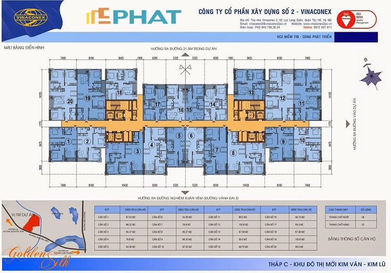 Bán căn hộ 06 và 07 chung cư Kim Văn Kim Lũ tòa C, chỉ từ 19 tr/m2, LH Mr Nhật  0985.694.3