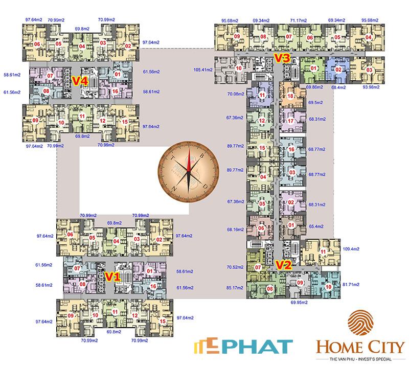 Bán gấp căn hộ chung cư Home City, Tòa V3 70.08m2, tòa V3 105,41m2 giá rẻ, LH: 0985.694.33