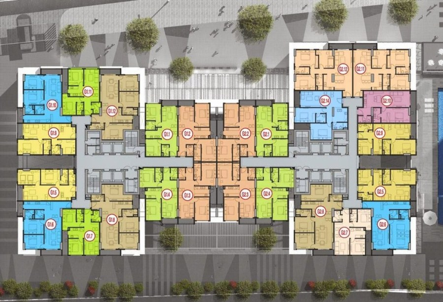 Bán gấp căn hộ 2pn-76m2 CC Five star Kim Giang, giá 23tr/m2.
