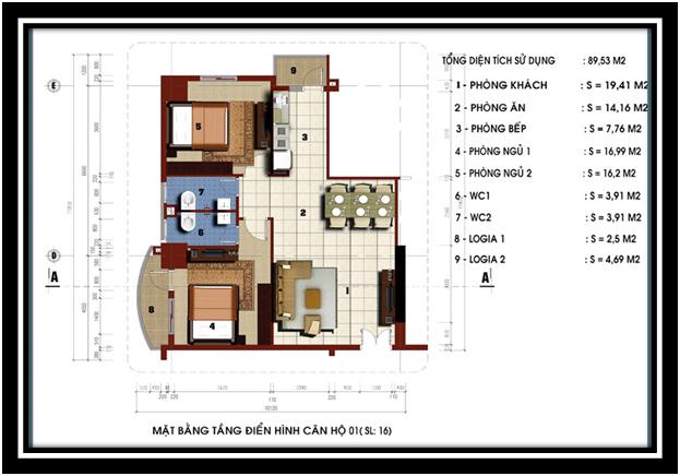 Chính chủ bán căn góc 89m2 tầng 15 dự án Riverside - 79 Thanh Đàm. giá 1,2 tỷ .
