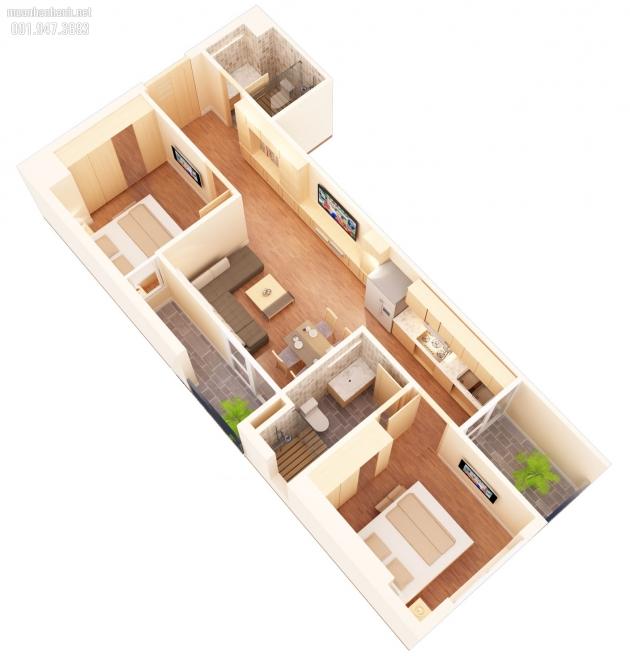 (LH: 0934542259) Bán căn B7: 62.2m2 CC Mỹ Sơn Tower, Nguyễn Huy Tưởng, giá 23 tr/m2.